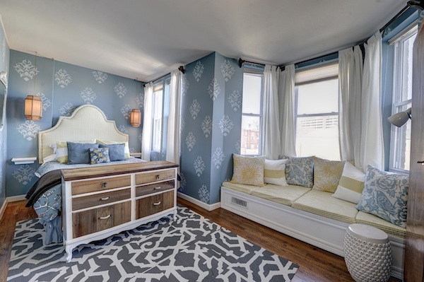 Master Bedroom Nook row house in happening h street defines urban living |
