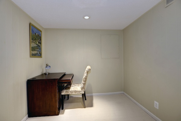 basement bedroom or office space
