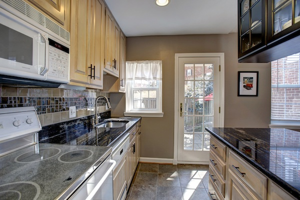 Picture perfect convenience and charm in arlington for Updated galley kitchen photos