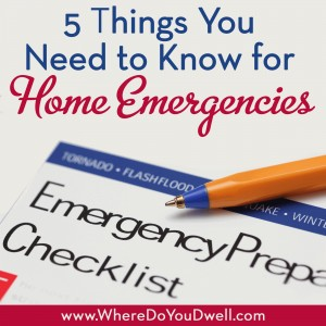 5 things home emergency hh