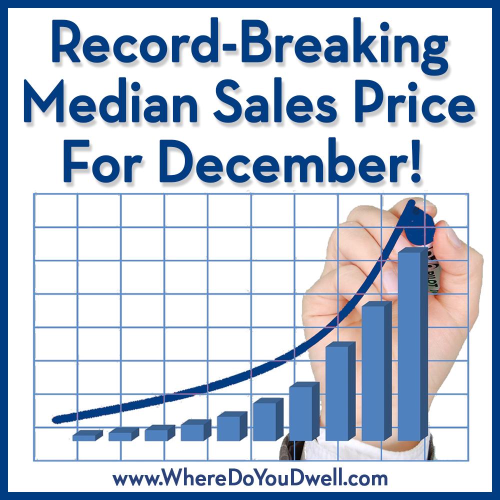 Record breaking median sales for december