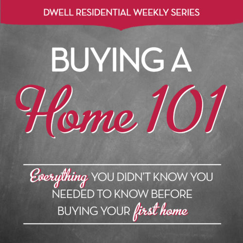 If you've been thinking about buying a home and are just not sure of the steps involved or even where to start, then our new weekly series Buying a Home 101 is a MUST read for you.